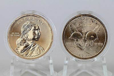 2016 P Sacagawea Native American Uncirculated Code Talkers $1 Coin