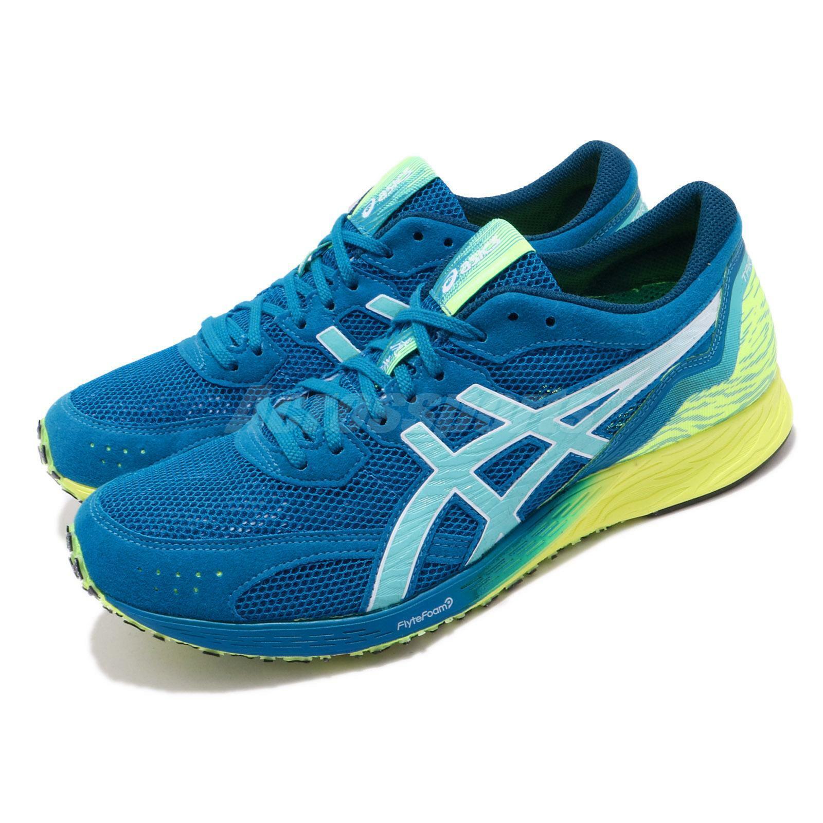 Asics tartherojoge azul amarillo para hombre para mujer maratón Zapatillas 1011A544-400