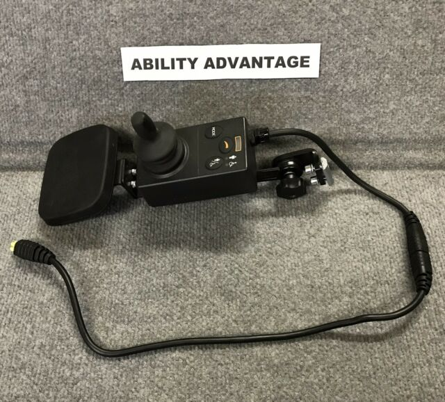 PG DRIVES RNET Attendant Joystick, wrist support, Cable, for Permobil chairs.
