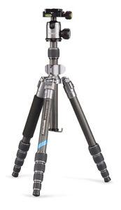 Cullmann-55456-Travel-Stand-Tripod-Carbon-Mundo-522tc-Silver-Trailer-Ball-with