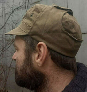 Uniform-Cap-Summer-Sand-Tobacco-New-Old-Stok-USSR-Army-Afghanka-Size-57-58-59