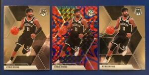 KYRIE-IRVING-2019-20-PANINI-MOSAIC-PRIZM-BLUE-REACTIVE-BASE-LOT-SP-FREE-S-amp-H