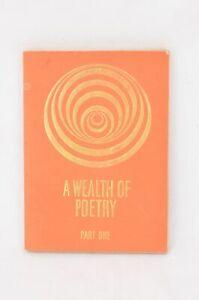 """A Wealth Of Poetry Pt 1"" - Winifred Handley, John Betjeman, 1963 1st edition"