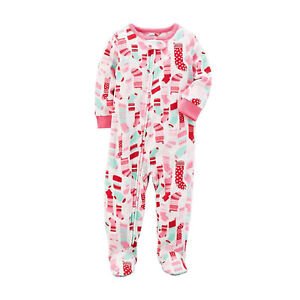 Details about Carter s Baby Girls One Piece Fleece Footed Pajama - Zippered  Christmas Sleeper b808d3f65