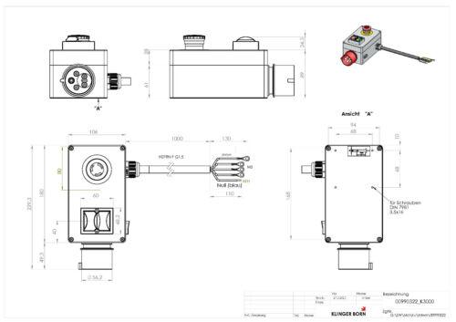 0099.0322 Schalter Starter K3000 3Ph-400V//7,5kW mit Überlastschutz Not-Aus Nr