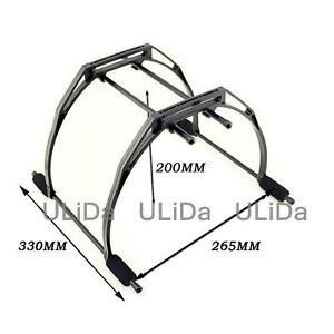 2pcs Universal Landing Skid Gear Stand 200mm Tall for Quadcopter Aircraft