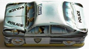 50's POLICE TIN BOX CAR IAN LOGAN UK 1982