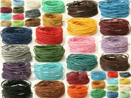 Cable de cadena de color 1mm Cáñamo Encerado Suave Twine Joyería Artesanía Anudado abalorios