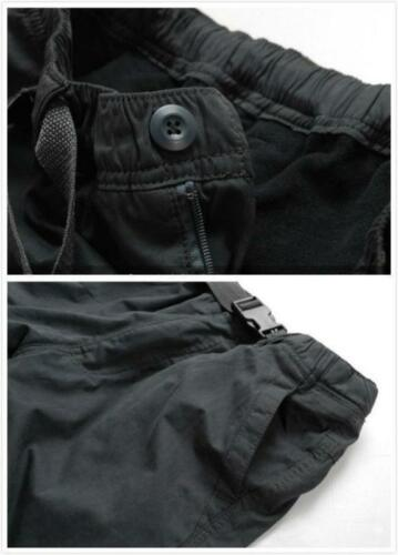 Outdoor Winter Mens Loose Pocket Trousers Warm Thicken casual work Pants