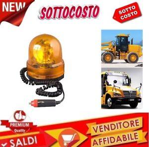 LAMPEGGIANTE-STROBO-CALAMITATO-X-AUTO-TRATTORE-12-VOLT-COLORE-ARANCIONE-ROTANTE