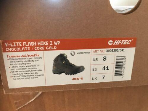 Hi-Tec V-Lite Flash Hike I WP  CHOCOLATE//CORE GOLD RRP $269  New in Box