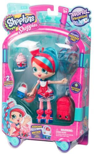 Shopkins Series 8 Jessicake Visits Britain World Vacation Bonus America 2 Pack