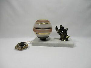 ancienne lampe veilleuse de chevet art deco oiseaux old lamp alte lampe ebay. Black Bedroom Furniture Sets. Home Design Ideas