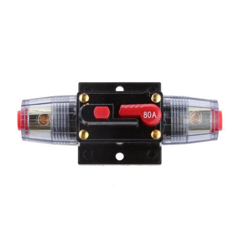 DC 80A Auto Audio Inline-schutzschalter Selbst Recovery Sicherungshalter
