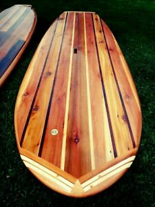 Build Your Own 8 39 Hollow Wooden Stand Up Paddle Board Wood Sup Plans Blueprints Ebay