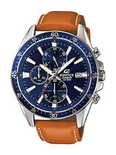 CASIO EDIFICE Tan Strap Chrono Sports Watch for Mens EFR-546L-2AVUDF(EX250)