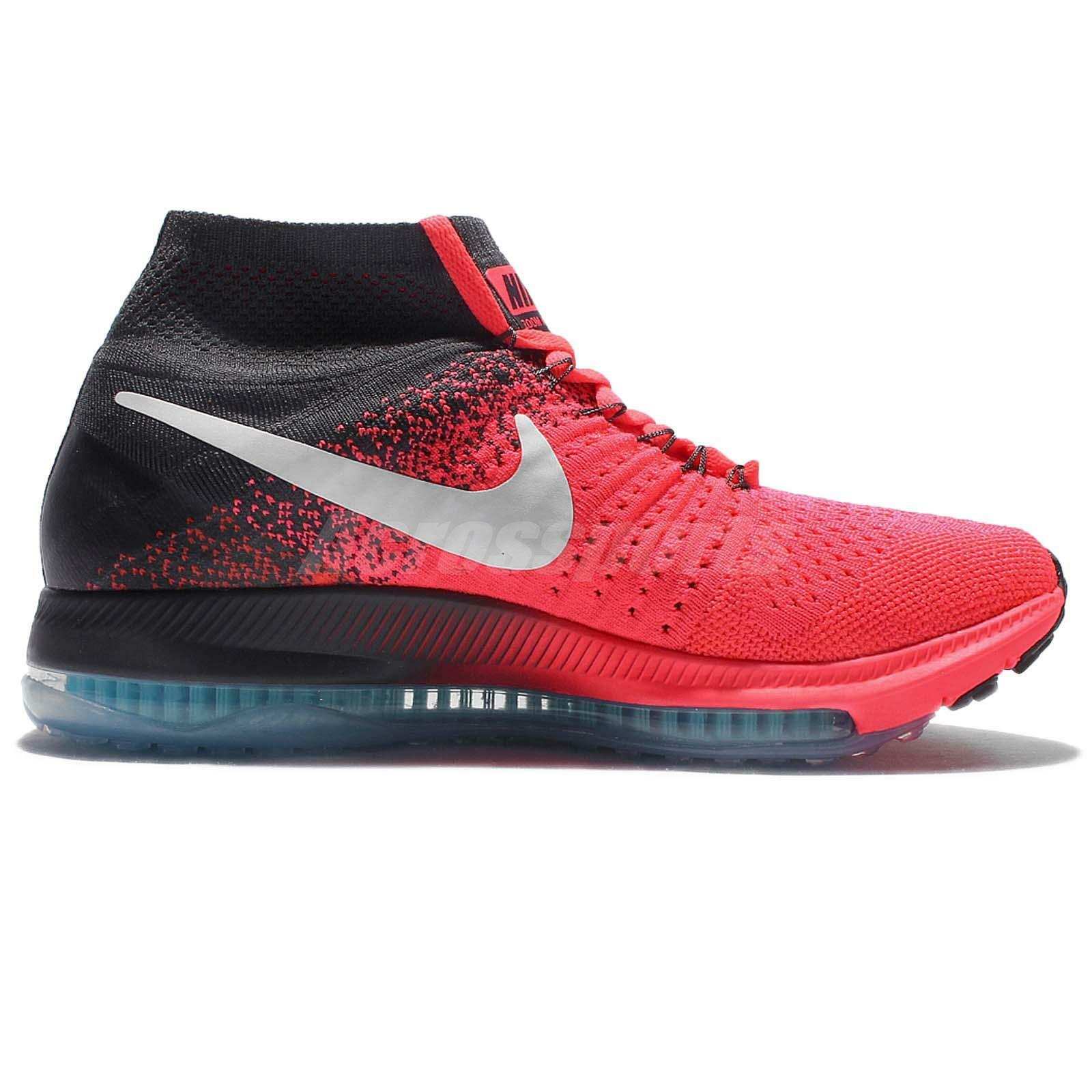 Nike Zoom All Out Flyknit 845361-600 Hot Punch/Anthracite/White Wmn Sz 7.5
