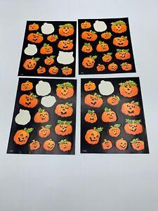 One Package Vintage Sheet Stickers Hallmark Halloween Jack O/'Lanterns /& Pumpkins