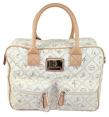 Giulia Pieralli Damentasche Shopper Tasche Reisetasche creme No. 26824