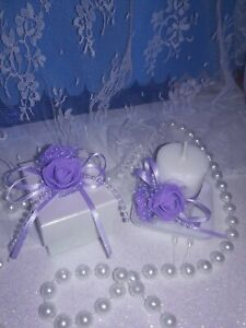 Details About 12 Quinceaneras Decoration Sweet 16 Small Boxes For Candies With 4 Candles