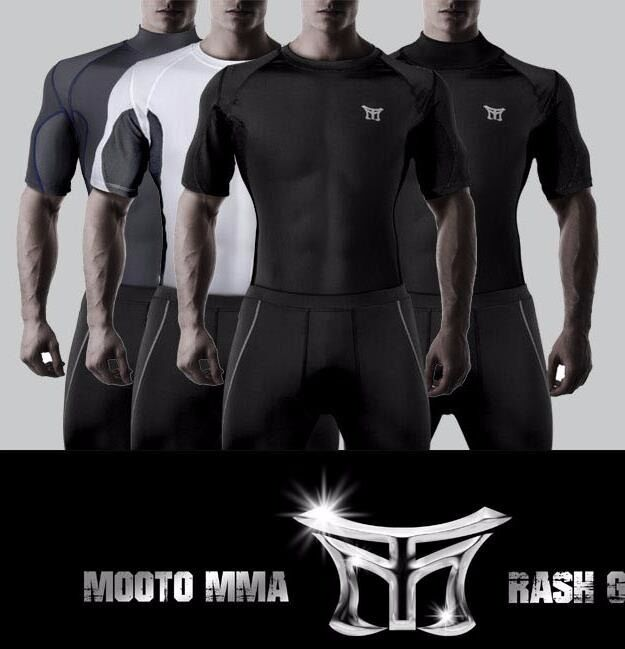 MOOTO MMA Rash Guard TShirts RashGuard Sports T-shirts Boxing Taekwondo 4colors