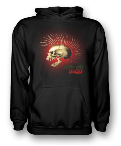 Kids Hoodie Punk Not Dead Skull with Spines