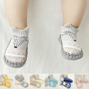 Newborn-Baby-Girl-Soft-Sole-Cotton-Socks-Shoes-Anti-slip-Sneaker-Prewalker-0-18M