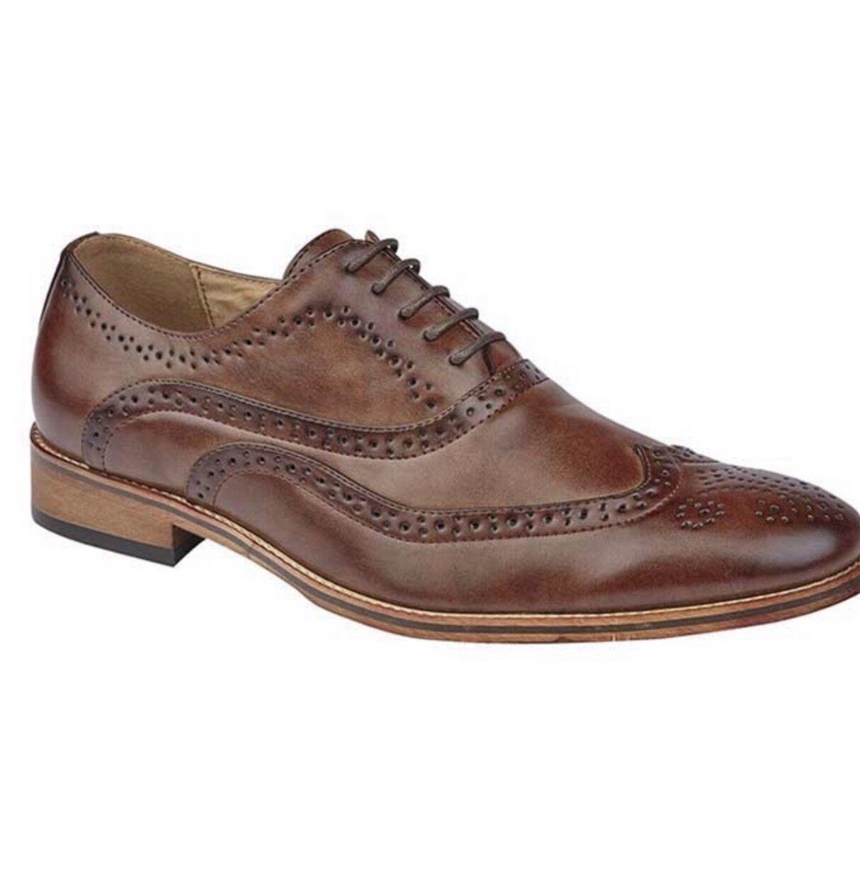 Goor  Brown Brogue shoe. Great comfortable gents shoe. Ideal for a Wedding etc