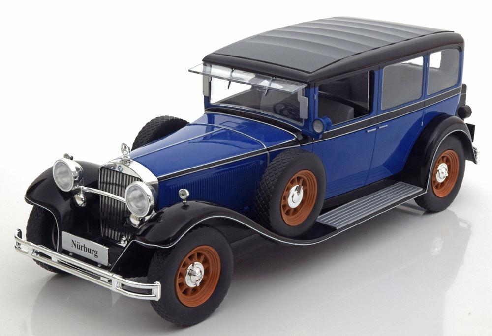 Model Car Group 1928 Mercedes Benz Nurburg 460 460 K W08 bluee 1 18 Scale New