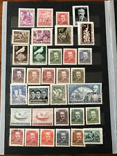 Poland 1950 Complete Year Set. 33 mint stamps. MNH**