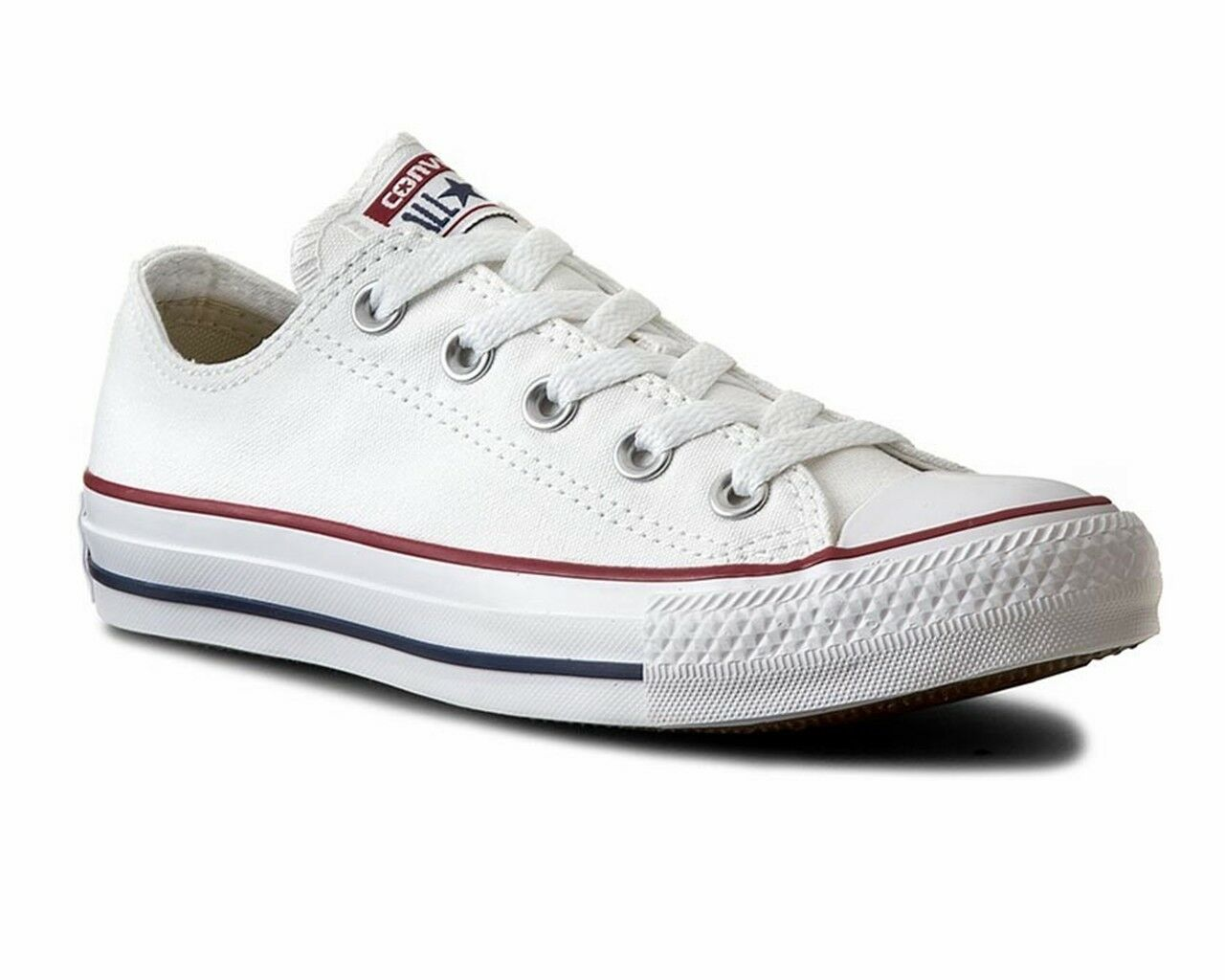 hommes Converse All Star OX M7652C Canvas femmes  Trainers Optical  blanc Chaussures