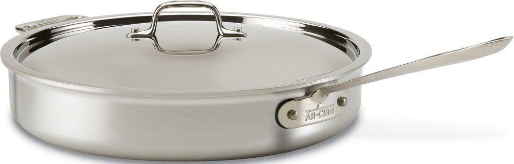 All-clad 4405 Acero Inoxidable Tri-Ply apto para lavavajillas 5-qt saute pan con tapa