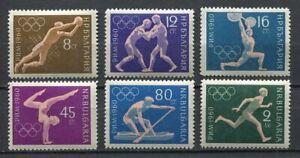 33445-Bulgaria-1960-MNH-Olympic-Games-Rome-6v