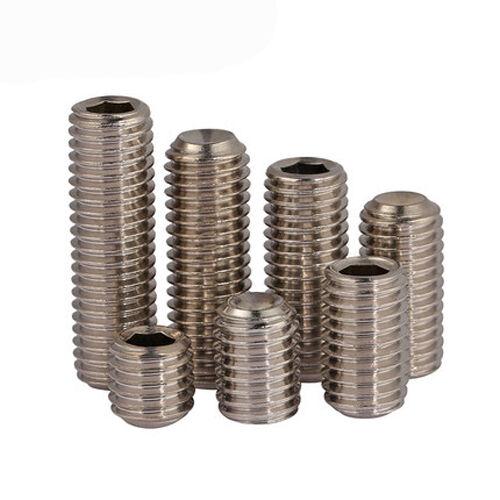 M5 M6 Hex Socket Set Screws Allen Concave End Grub Screw 304 Stainless Steel