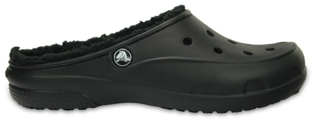 89ea7f422 Crocs Freesail Plushlined Clog 203570 - 060 Black Womens Clogs 9 UK ...