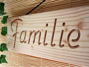 Holzschild, Schild mit persönlicher Gravur, Ihr Name, Türschild ...