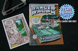 Ranger Ralph Comic #4 1st Edition with Limited Edition 3-D Card & Glasses