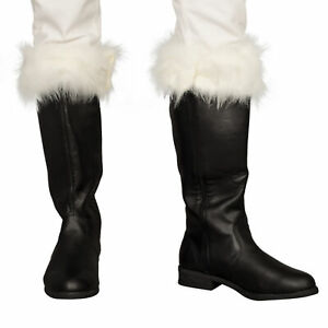 Adult-Unisex-Halloween-Christmas-Santa-Claus-Adult-Costume-Black-Boots