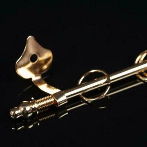 1-12-Mini-Gardinenstange-Mini-Golden-Exquisite-Puppenhaus-Dekor-Zubehoer-DIY-L4E8