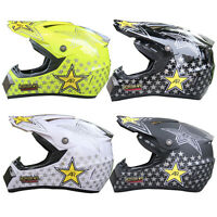 Mens Outdoor Motorcycle Off-Road Star Helmet Motorcross Racing Dirt Bike DOT ATV