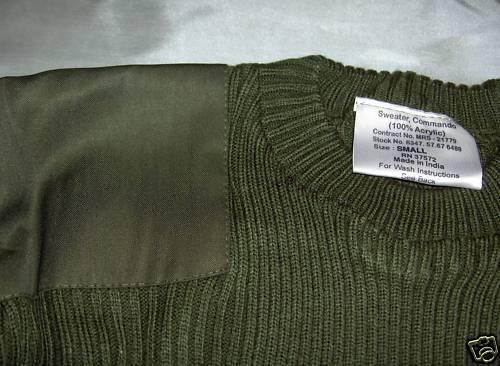 Commando Pullover Militär Stil Farben S,M, L,XL,2x,3x | Bekannt für für für seine schöne Qualität  e5c49c