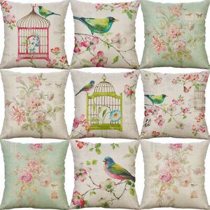 18-034-Bird-Oil-painting-Cushion-Cover-Cotton-Linen-Pillow-Case-Sofa-Home-Decor