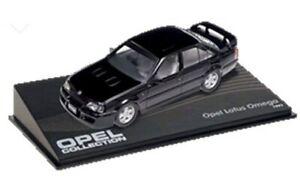 OPEL-Omega-Lotus-Vauxhall-Lotus-Carlton-Modelo-Coches-Negro-Y-Verde-1989-92-1-43