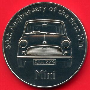 50th-Anniversary-Of-The-First-MINI-Car-Coin-Token-38mm-Dia-X-3mm-Thick