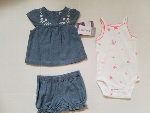 Carters Girls Infants One Piece Outfit  Size   3M 12M NWT Jean
