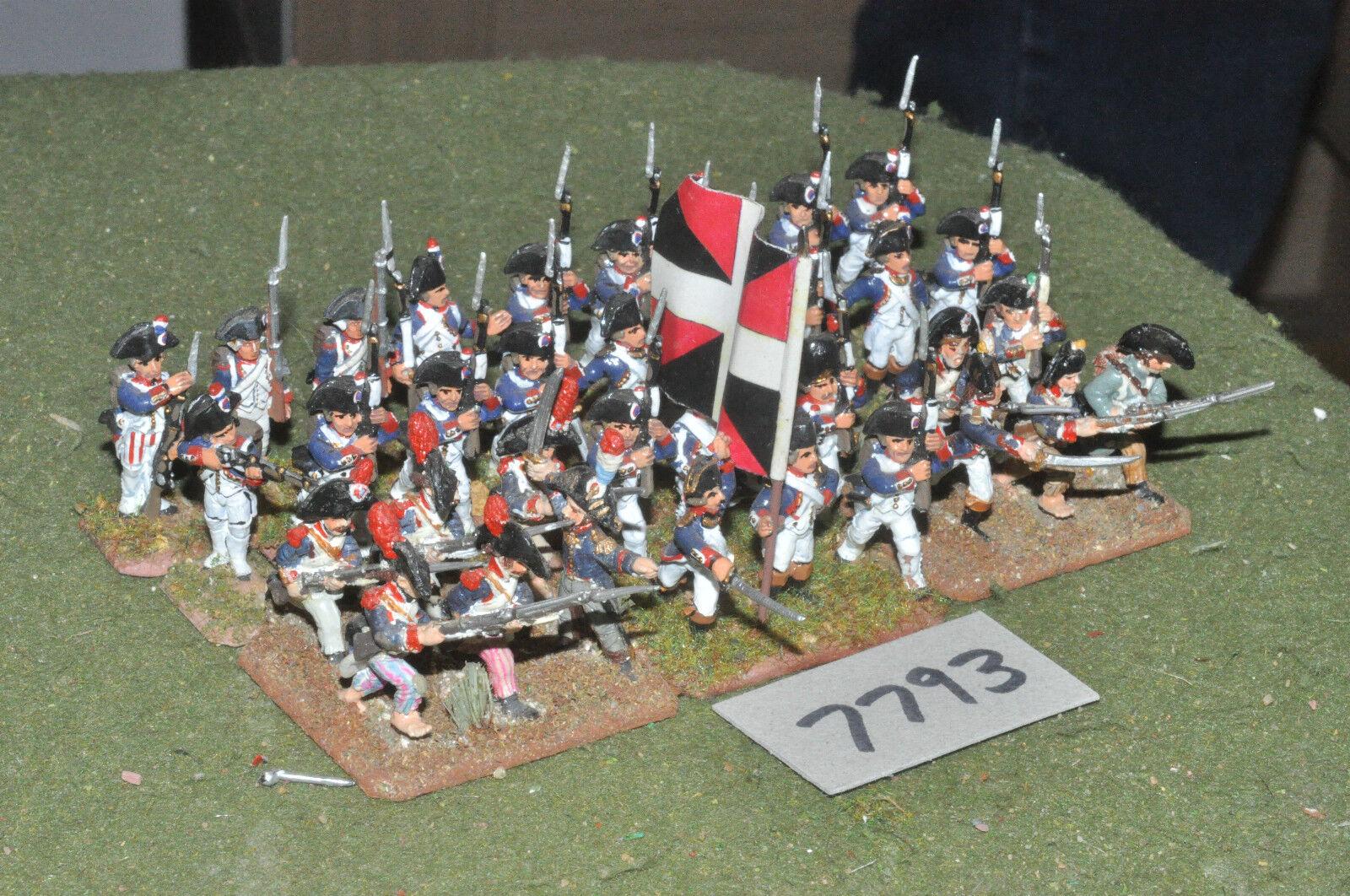 25mm napoleonisk   Franska - revolutionära krigsinfanteri 36 Figs metal - info (793)