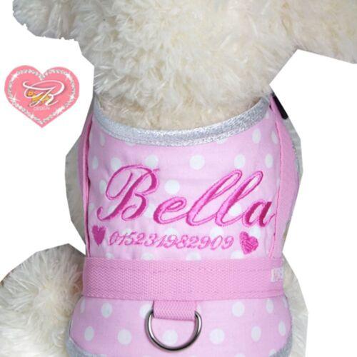 Request Name Dog Harness anti Print Soft Harness Chest Harness Dotti XXXS-XS
