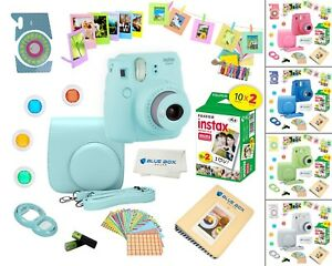 Fujifilm Instax Mini 9 Instant Camera + 20 Fuji Film Sheets + Accessory Bundle!
