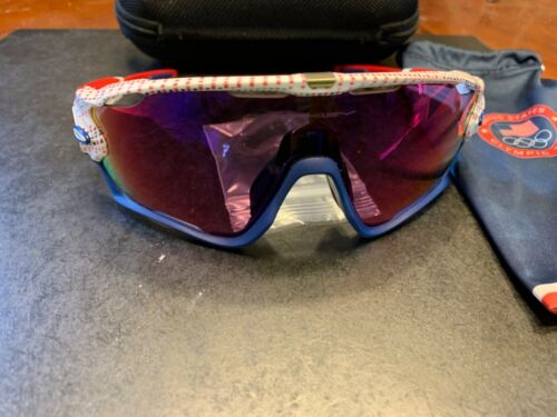 Oakley TEAM USA Limited Edition White Blue red Jaw