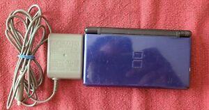Nintendo DS Lite Cobalt/Black Console w/ Charger- TURNS ON BUT READ DESCRIPTION